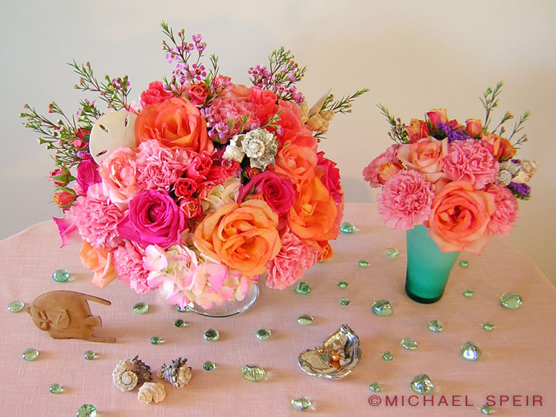 Caribbean Carnival Coral Bouquet Michael Speir Style