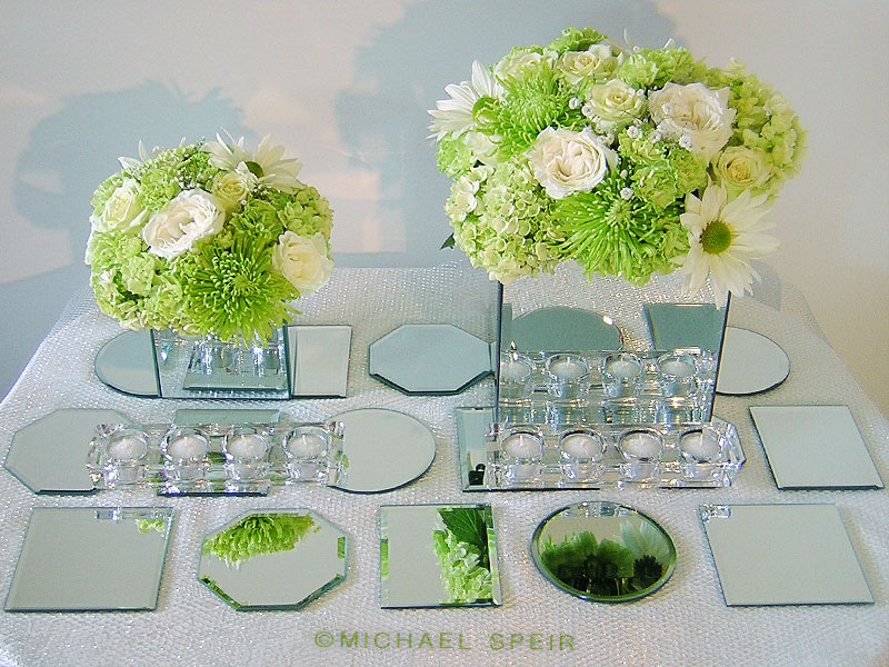 Charmant Mirror Box Centerpiece And Mirror Mosaic Table Runner Overview