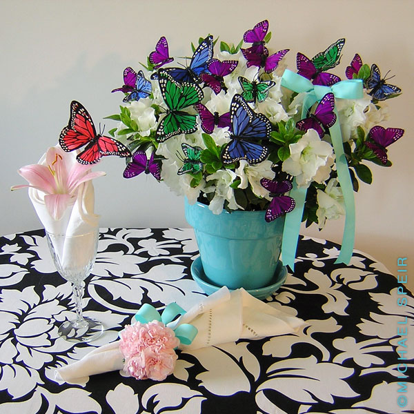 Butterfly bush centerpiece michael speir style for Butterflies for crafts and decoration